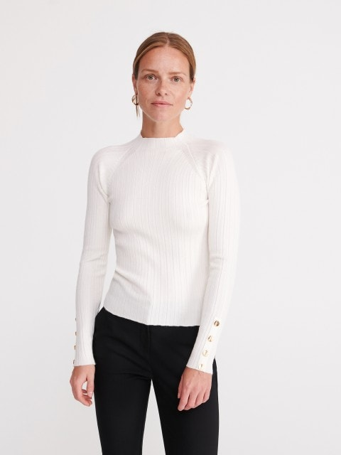 Sweater with buttons on the sleeves