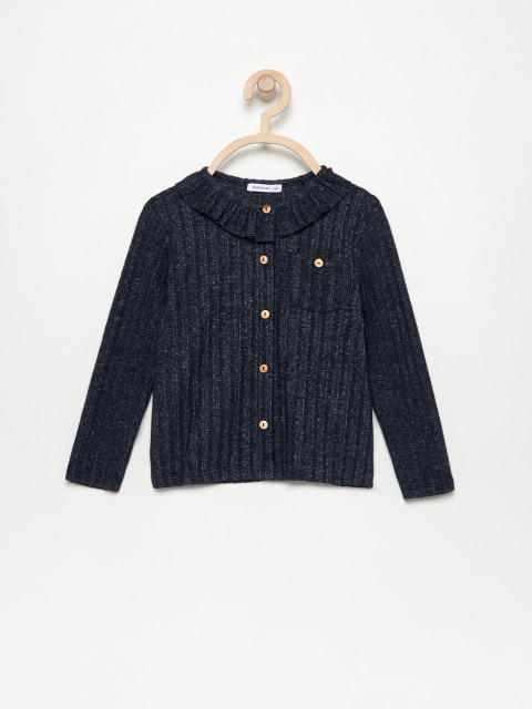 Knit top with collar