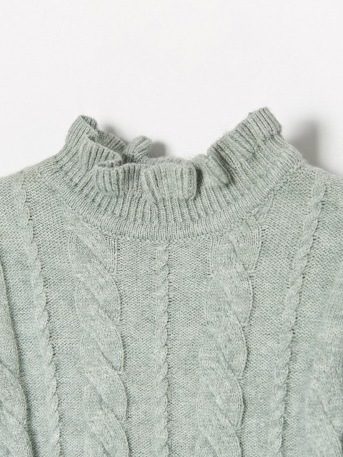Sweater with standing collar