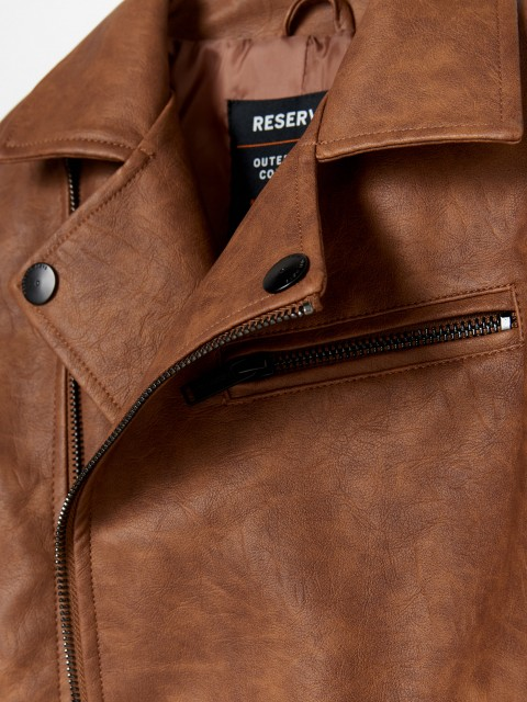 Eco-leather rocker jacket