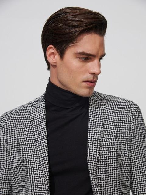Plaid shepherd's jacket