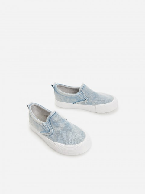 Denim slip on trainers
