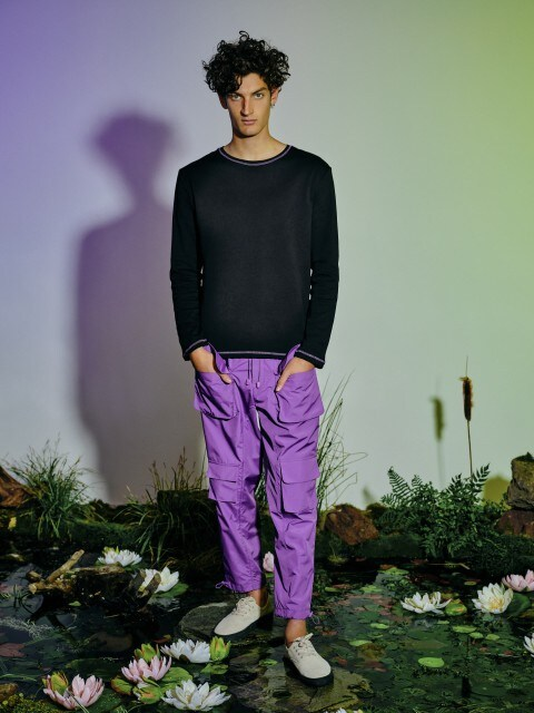 Waterproof fabric trousers