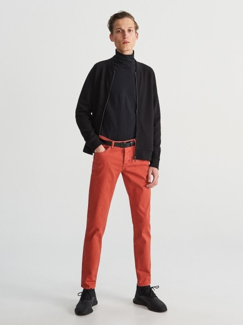 Cotton trousers slim fit