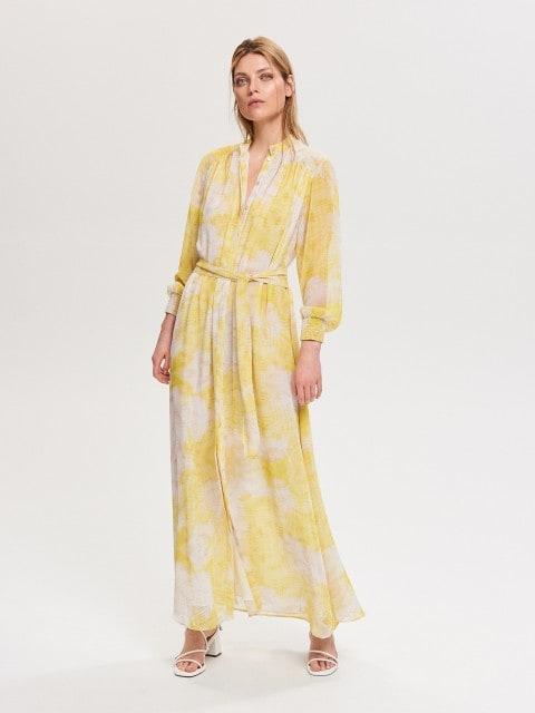 Maxi dress in tie-dye effect