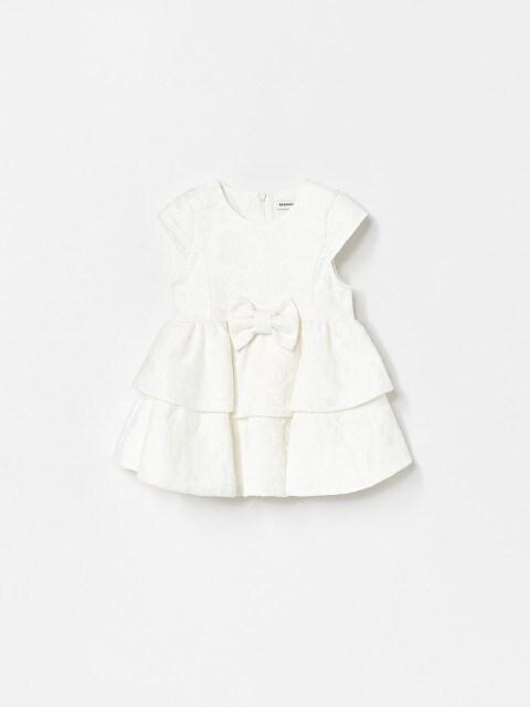 Jacquard ruffle dress