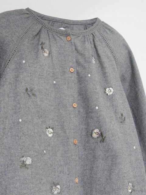 Pamučna bluza s vezom