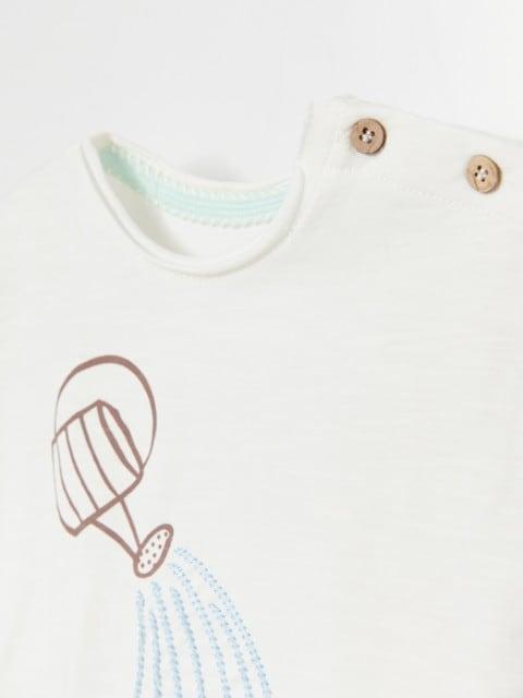 Pamučna majica kratkih rukava s natpisom
