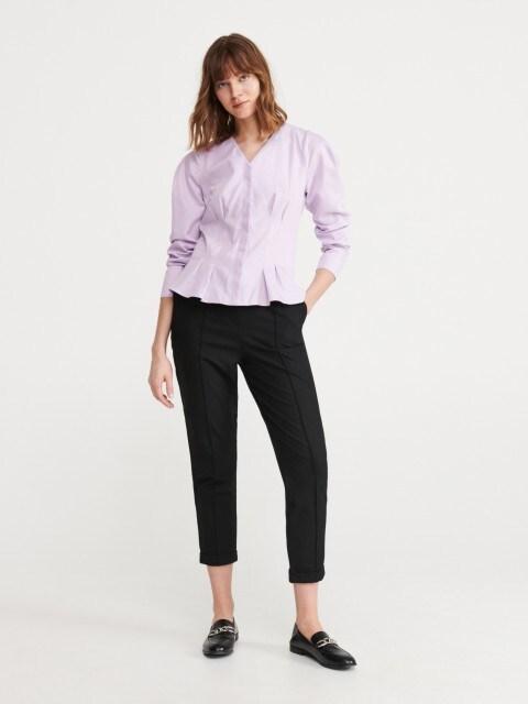 Strukirana bluza od mješavine Tencel™