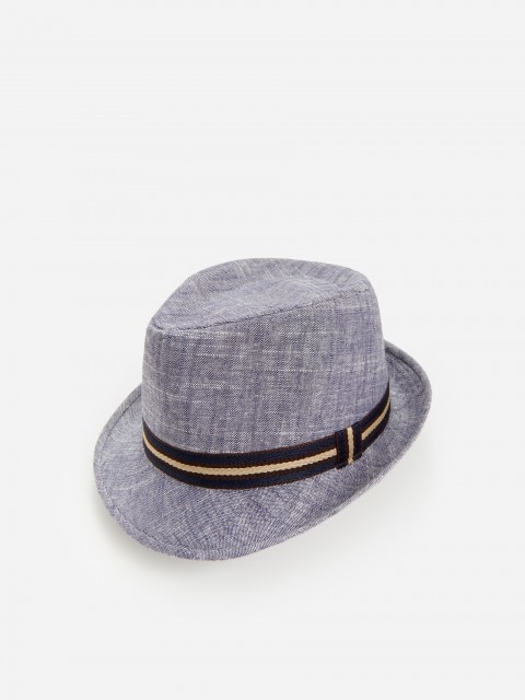 Trilby šešir s visokim udjelom lana i mješavinom viskoze