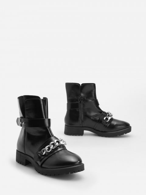 Thick sole ankle boots