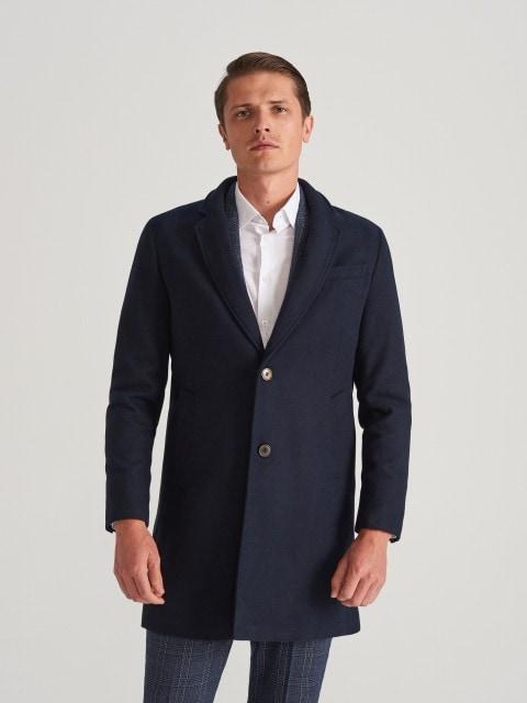 Blended wool coat