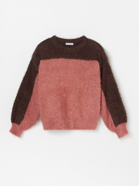 Two tone soft jersey jumper