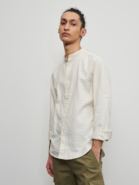 Structured cotton shirt