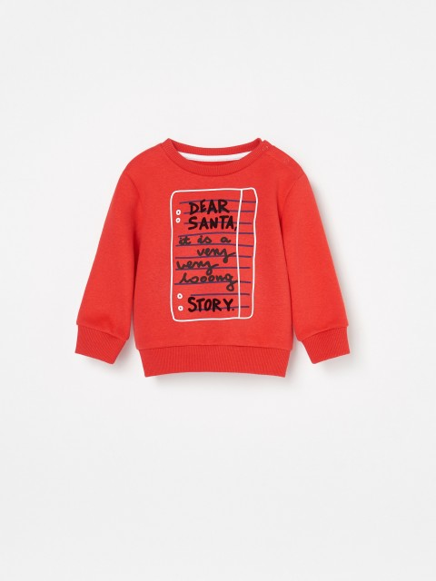 Organic cotton rich Christmas sweatshirt