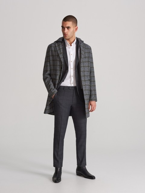 Checked suit trousers