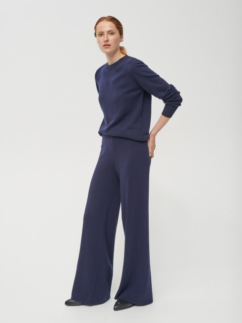 Jumper in wool and cashmere blend