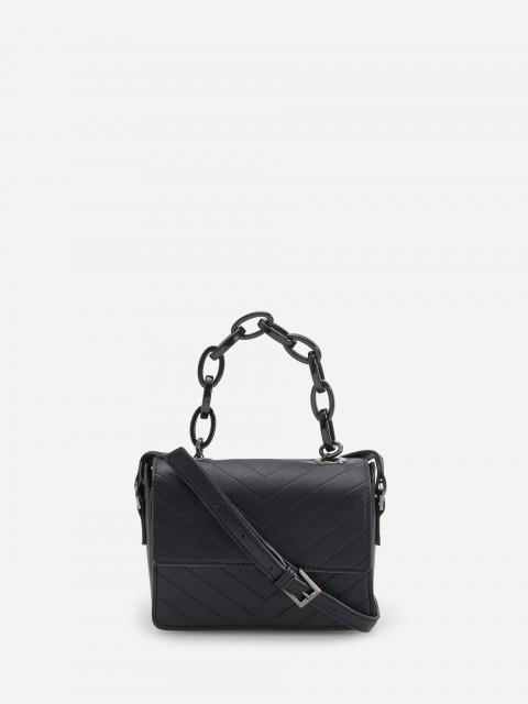 Handbag with decorative chain