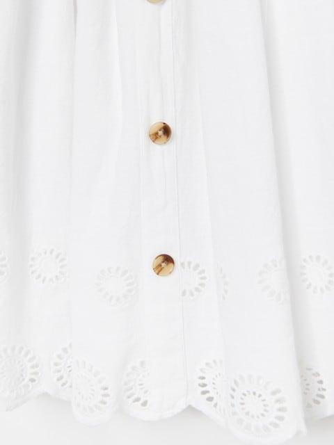 Vestito senza maniche in cotone