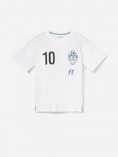 T-shirt in cotone stile maglia da calcio