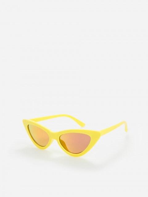 Occhiali da sole con montatura gialla