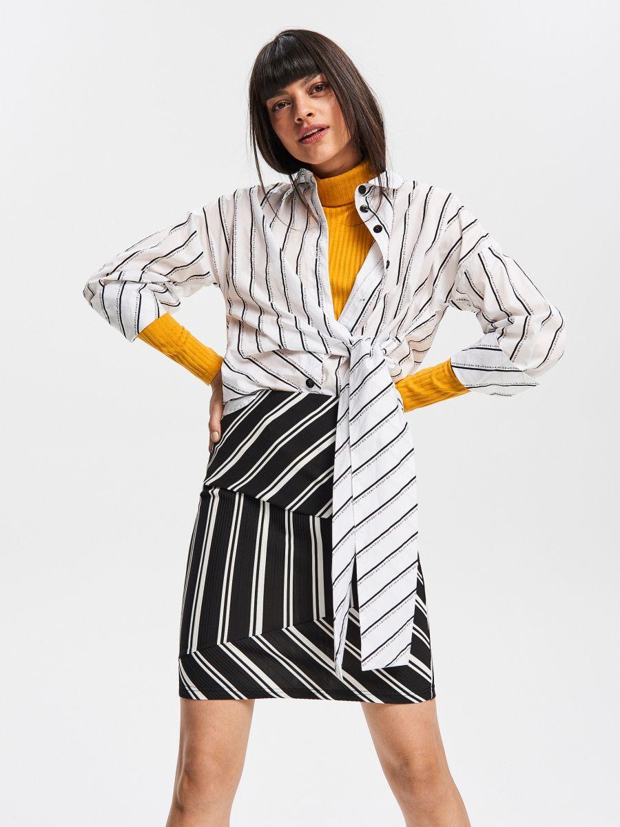 Ruožuoto trikotažo sijonas