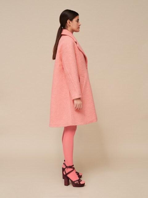 Rožinis vilnonis paltas