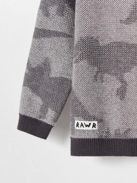 Medvilninis megztinis su gobtuvu