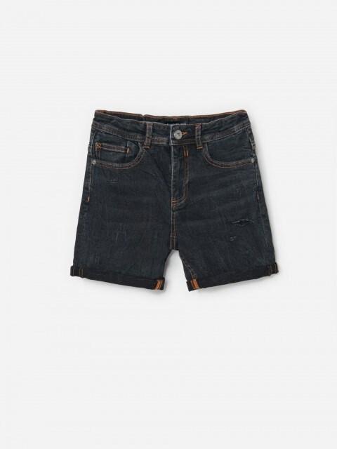 Nutrinti džinsiniai šortai
