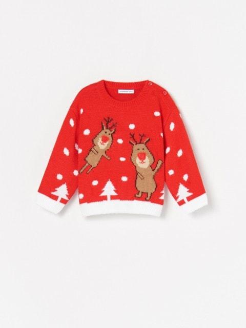 Megztinis su kalėdine aplikacija