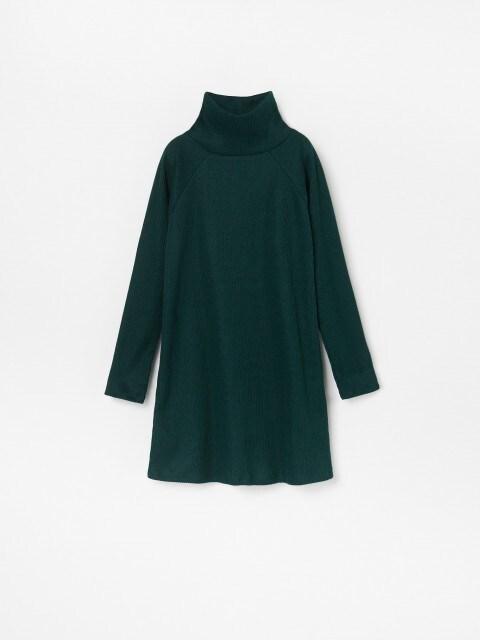 Midi turtleneck dress