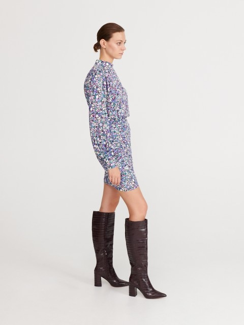 Over-the-knee boots with croc motif