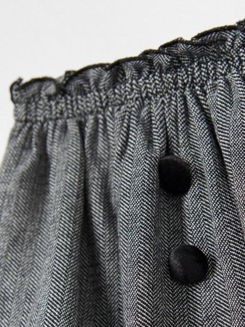 Dogtooth print mini skirt