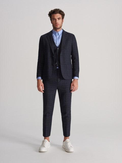 Wool blend suit blazer