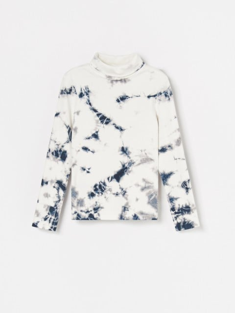 Tie dye effect turtleneck