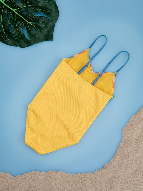 Girls` swimming suit