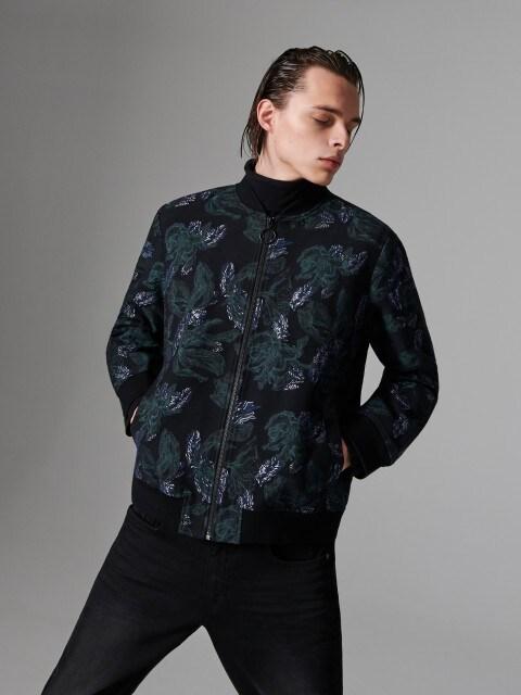 Jacquard bomber jacket