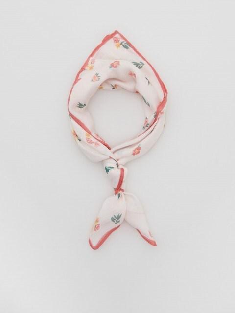 Neckerchief with flower print