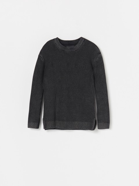 Cotton jumper with wash effect