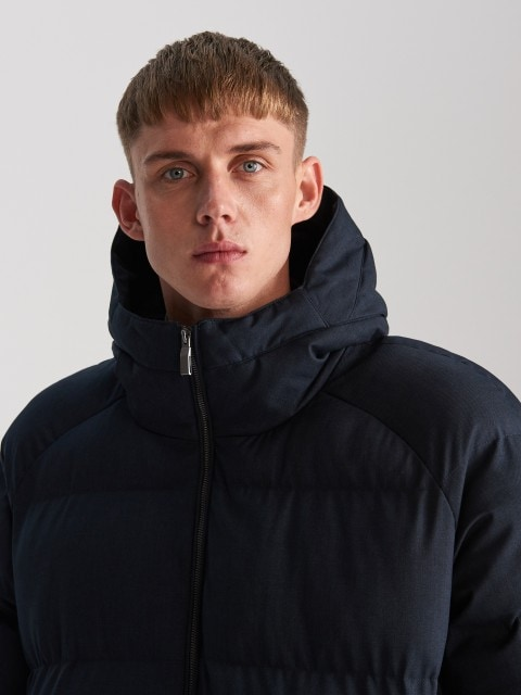Stepēta jaka ar kapuci