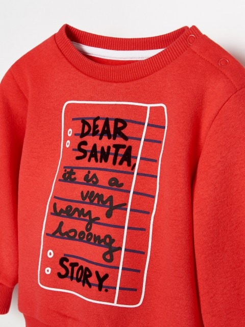 Ziemassvētku sporta džemperis no organiskās kokvilnas