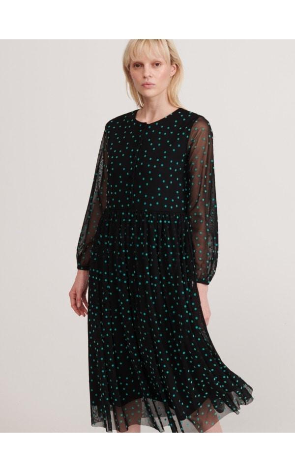 Iegādājieties tiešsaistē Punktaina kleita, RESERVED, XJ076-99X
