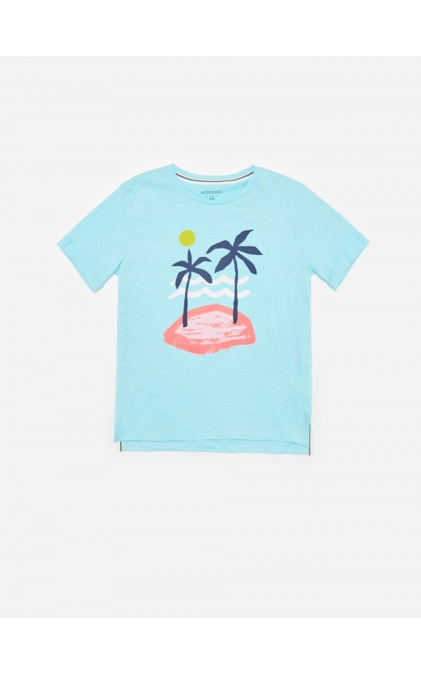 Iegādājieties tiešsaistē Kokvilnas T-krekls ar apdruku, RESERVED, YF906-50X
