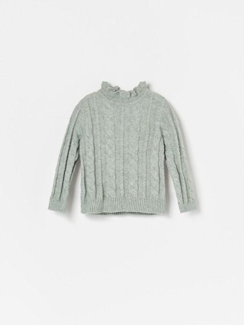 Džemperis ar stāvu apkakli