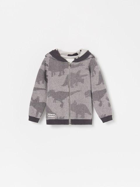 Kokvilnas džemperis ar kapuci