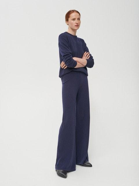 Vilnas džersija bikses ar kašmira piejaukumu