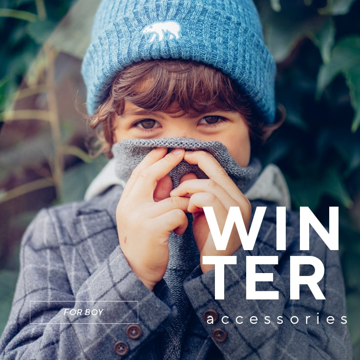 Winter accessories collection for BOYS - glves, scarves, hats - SS20