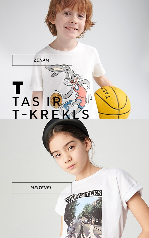 T-shirts! never out of trends! Check out girls and boys summer collection