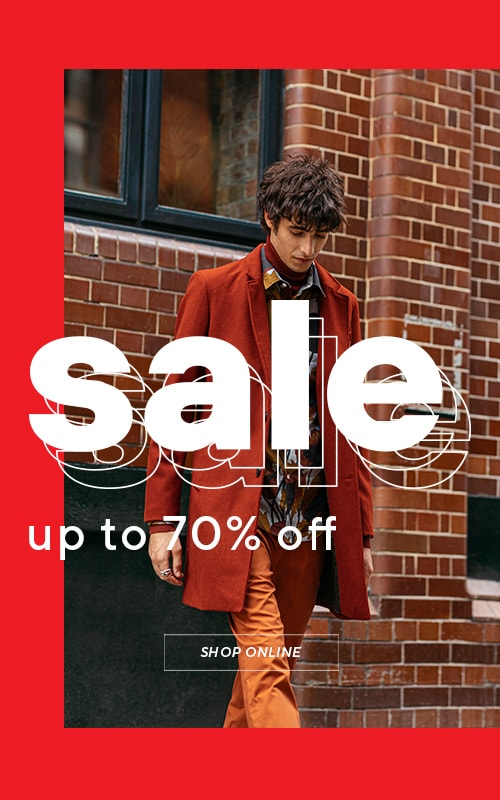 Sale up to 70% off - chance to fill your wardrobe cheaper. Collection for MEN