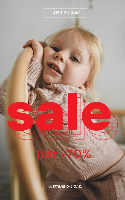 Sale up to 50% off - chance to fill your wardrobe cheaper. Collection for babies